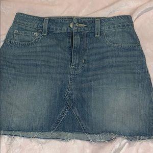 Hollister mini jean skirt